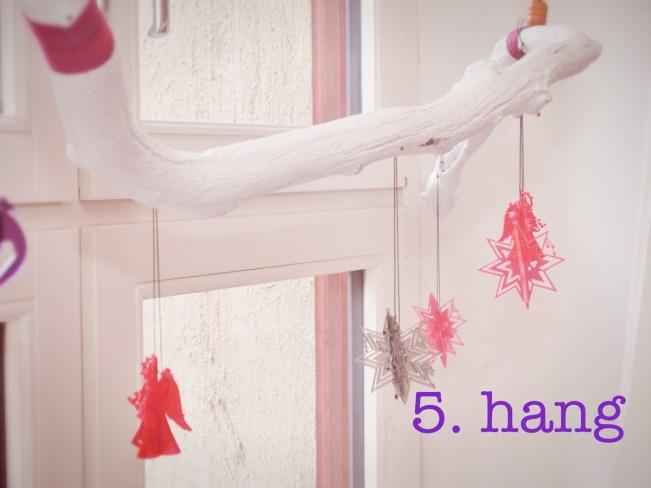 hang the Christmas branch
