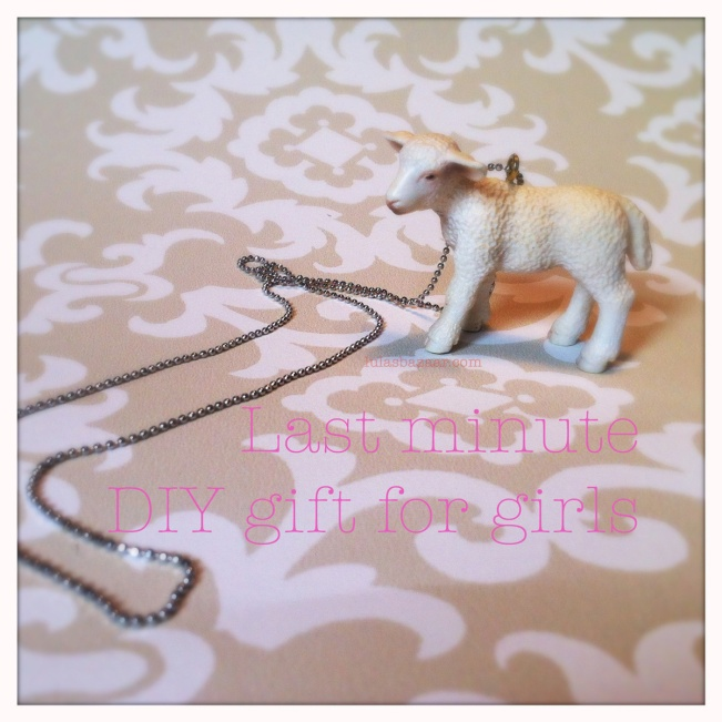 necklace made from toy lamb