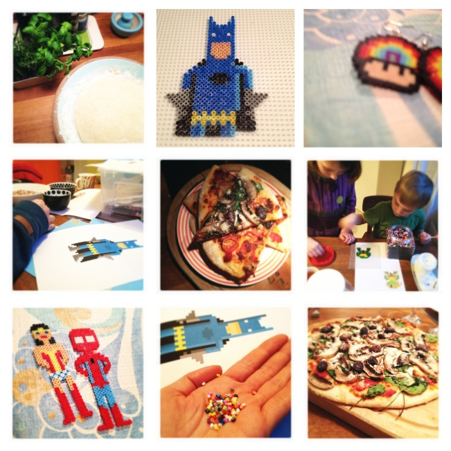 pizzas, hama beads and superheroes