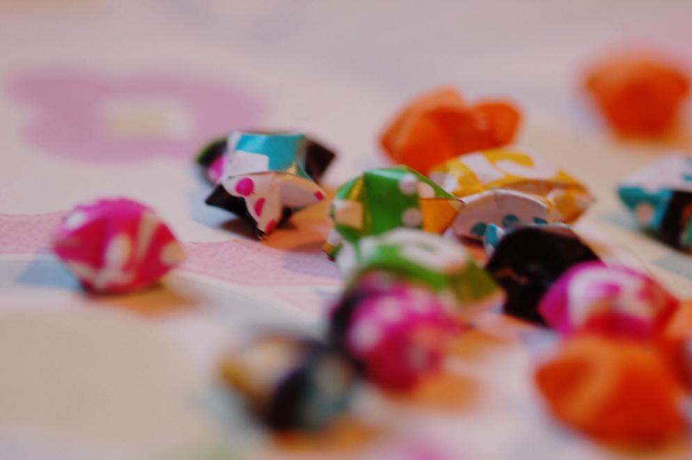 colourful mini origami paper stars