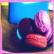 Macaroons, pink and blue