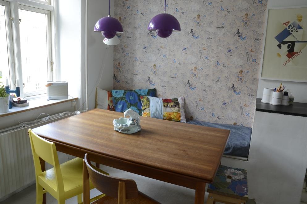 Eclectic kitchen interior